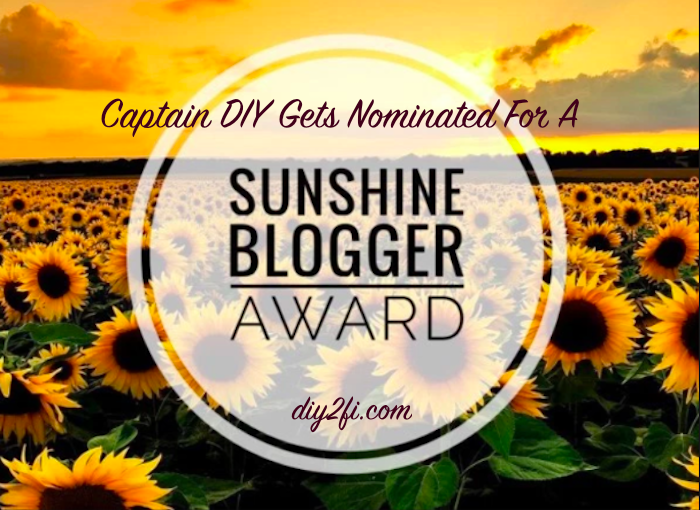 The Captain Gets Nominated for A Sunshine Blogger Award